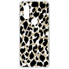Cover Design Motorola One Vision - Panther Black / Gold