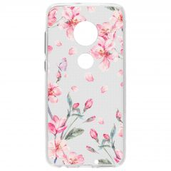 Cover Design Motorola Moto G7 / G7 Plus - Blossom Watercolor Pink