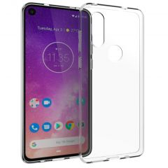 Accezz Cover Clear Motorola One Vision - Trasparente