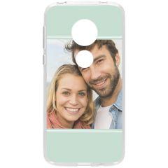 Cover Flessibile Personalizzate Motorola Moto G7 Play - Trasparente