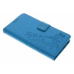 Custodia Portafoglio Fiori di Trifoglio Huawei P9 Lite - Turchese