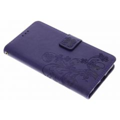 Custodia Portafoglio Fiori di Trifoglio Huawei P9 Lite - Viola