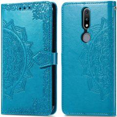 iMoshion Custodia Portafoglio Mandala Nokia 2.4 - Turchese