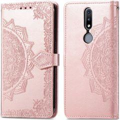 iMoshion Custodia Portafoglio Mandala Nokia 2.4 - Rosa