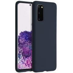 Accezz Cover in Silicone Liquido Samsung Galaxy S20 - Blu