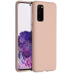 Accezz Cover in Silicone Liquido Samsung Galaxy S20 - Rosa