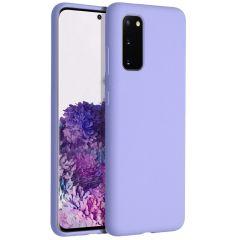 Accezz Cover in Silicone Liquido Samsung Galaxy S20 - Viola