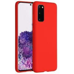 Accezz Cover in Silicone Liquido Samsung Galaxy S20 - Rosso