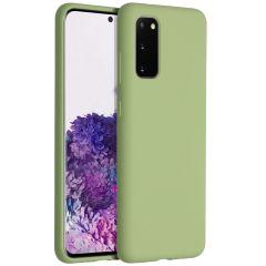 Accezz Cover in Silicone Liquido Samsung Galaxy S20 - Verde