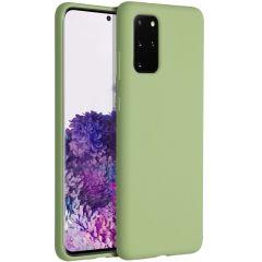 Accezz Cover in Silicone Liquido Samsung Galaxy S20 Plus - Verde