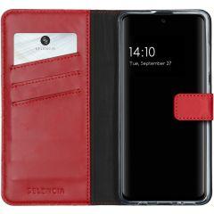 Selencia Custodia Portafoglio in Vera Pelle Samsung Galaxy A51 - Rosso