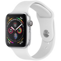 iMoshion Cinturino in Silicone Apple Watch Series 1 t/m 6 / SE - Bianco