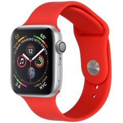 iMoshion Cinturino in Silicone Apple Watch Series 1 t/m 6 / SE - Rosso