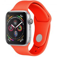 iMoshion Cinturino in Silicone Apple Watch Series 1 t/m 6 / SE - Arancio