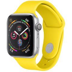 iMoshion Cinturino in Silicone Apple Watch Series 1 t/m 6 / SE - Giallo
