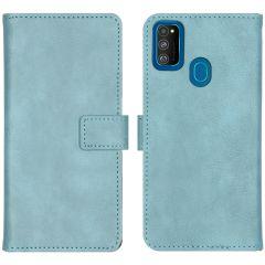 iMoshion Custodia Portafoglio de Luxe Samsung Galaxy M30s / M21 - Azzurro