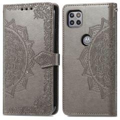 iMoshion Custodia Portafoglio Mandala Motorola Moto G 5G - Grigio