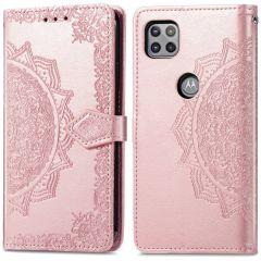 iMoshion Custodia Portafoglio Mandala Motorola Moto G 5G - Rosa oro