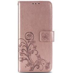 Custodia Portafoglio Fiori di Trifoglio Sony Xperia 1 II - Rosa