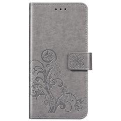 Custodia Portafoglio Fiori di Trifoglio Sony Xperia 1 II - Grigio