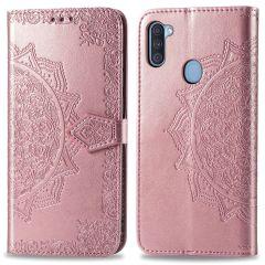 iMoshion Custodia Portafoglio Mandala Samsung Galaxy M11 / A11 - Rosa oro