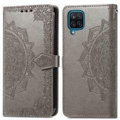 iMoshion Custodia Portafoglio Mandala Samsung Galaxy A12 - Grigio