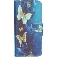Custodia Portafoglio Flessibile Nokia 6.2 / Nokia 7.2 - Blue Butterfly