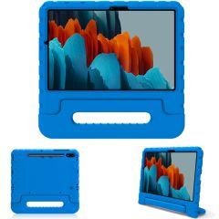 iMoshion Cover Antishoc Speciale Bambini con Manico Samsung Galaxy Tab S7 - Blu
