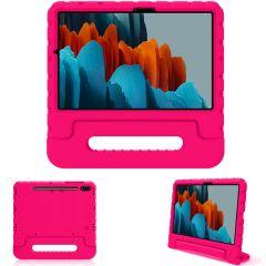 iMoshion Cover Antishoc Speciale Bambini con Manico Samsung Galaxy Tab S7 - Rosa