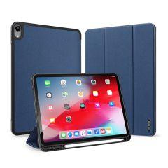 Dux Ducis Domo Custodia a Libro iPad Air (2020) - Blu scuro