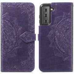 iMoshion Custodia Portafoglio Mandala Samsung Galaxy S21 - Viola