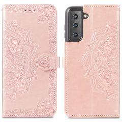 iMoshion Custodia Portafoglio Mandala Samsung Galaxy S21 - Rosa oro