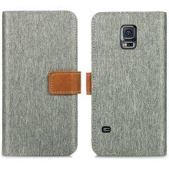 iMoshion Portafoglio Canvas Luxe Samsung Galaxy S5 (Plus) / Neo - Grigio