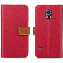 iMoshion Portafoglio Canvas Luxe Samsung Galaxy S5 (Plus) / Neo - Rosso