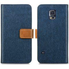 iMoshion Portafoglio Canvas Luxe Samsung Galaxy S5 (Plus) / Neo - Blu scuro