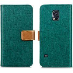 iMoshion Portafoglio Canvas Luxe Samsung Galaxy S5 (Plus) / Neo - Verde