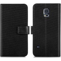 iMoshion Portafoglio Canvas Luxe Samsung Galaxy S5 (Plus) / Neo - Nero
