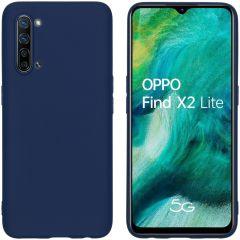 iMoshion Cover Color Oppo Find X2 Lite - Blu scuro
