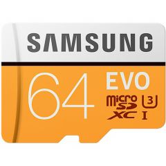 Samsung Scheda di memoria microSDXC 64GB EVO classe 10 + adattatore