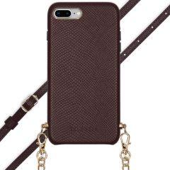 Selencia Aina Custocia Serpente con Cordino iPhone 8 Plus / 7 Plus - Rosso scuro