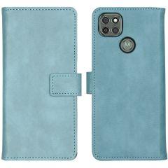 iMoshion Custodia Portafoglio de Luxe Motorola Moto G9 Power - Azzurro