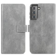 iMoshion Custodia Portafoglio de Luxe Samsung Galaxy S21 Plus - Grigio