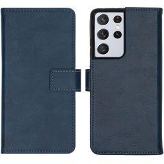 iMoshion Custodia Portafoglio de Luxe Samsung Galaxy S21 Ultra - Blu scuro