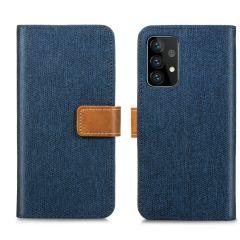 iMoshion Portafoglio Canvas Luxe Samsung Galaxy A72 - Blu scuro