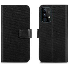 iMoshion Portafoglio Canvas Luxe Samsung Galaxy A72 - Nero