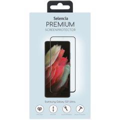 Selencia Pellicola Protettiva Premium in Vetro Temperato Samsung Galaxy S21 Ultra - Nero