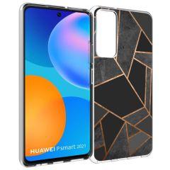 iMoshion Cover Design Huawei P Smart (2021) - Black Graphic