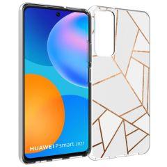 iMoshion Cover Design Huawei P Smart (2021) - White Graphic