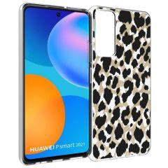 iMoshion Cover Design Huawei P Smart (2021) - Golden Leopard