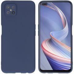 iMoshion Cover Color Oppo Reno4 Z 5G - Blu scuro